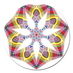 Colorful Chromatic Psychedelic Magnet 5  (round) by Nexatart
