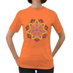 Colorful Chromatic Psychedelic Women s Dark T Shirt