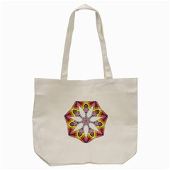 Colorful Chromatic Psychedelic Tote Bag (cream) by Nexatart
