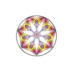 Colorful Chromatic Psychedelic Hat Clip Ball Marker (4 Pack) by Nexatart