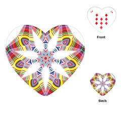 Colorful Chromatic Psychedelic Playing Cards (heart)  by Nexatart