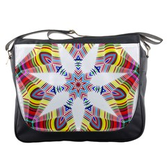 Colorful Chromatic Psychedelic Messenger Bags by Nexatart