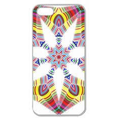 Colorful Chromatic Psychedelic Apple Seamless Iphone 5 Case (clear) by Nexatart
