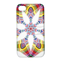 Colorful Chromatic Psychedelic Apple Iphone 4/4s Hardshell Case With Stand by Nexatart