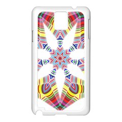 Colorful Chromatic Psychedelic Samsung Galaxy Note 3 N9005 Case (white) by Nexatart