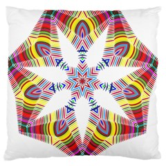 Colorful Chromatic Psychedelic Large Flano Cushion Case (two Sides) by Nexatart