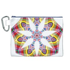 Colorful Chromatic Psychedelic Canvas Cosmetic Bag (xl) by Nexatart