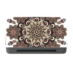 Mandala Pattern Round Brown Floral Memory Card Reader With Cf by Nexatart