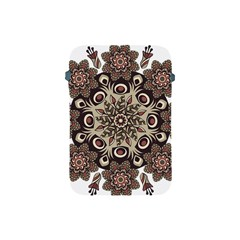 Mandala Pattern Round Brown Floral Apple Ipad Mini Protective Soft Cases by Nexatart