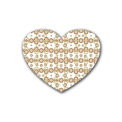 Multicolor Graphic Pattern Rubber Coaster (heart)  by dflcprints