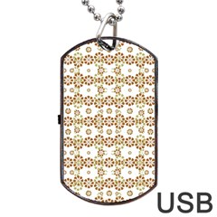 Multicolor Graphic Pattern Dog Tag Usb Flash (two Sides) by dflcprints