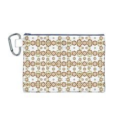 Multicolor Graphic Pattern Canvas Cosmetic Bag (m) by dflcprints