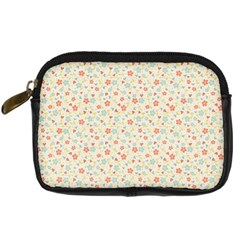 Colorful Pink Floral Cute Pattern Digital Camera Cases by paulaoliveiradesign