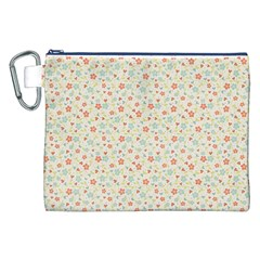 Colorful Pink Floral Cute Pattern Canvas Cosmetic Bag (xxl) by paulaoliveiradesign