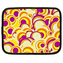 Retro Pattern 1973f Netbook Case (large) by MoreColorsinLife