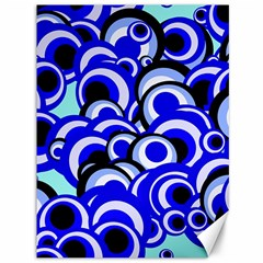 Retro Pattern 1973e Canvas 36  X 48   by MoreColorsinLife