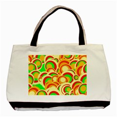 Retro Pattern 1973a Basic Tote Bag (two Sides) by MoreColorsinLife