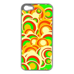 Retro Pattern 1973a Apple Iphone 5 Case (silver) by MoreColorsinLife