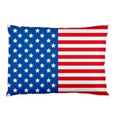 Usa Flag Pillow Case (two Sides) by stockimagefolio1