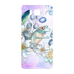 Funny, Cute Frog With Waterlily And Leaves Samsung Galaxy Alpha Hardshell Back Case by FantasyWorld7