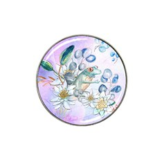 Funny, Cute Frog With Waterlily And Leaves Hat Clip Ball Marker (4 Pack) by FantasyWorld7
