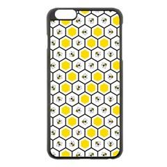 Bee Pattern Apple Iphone 6 Plus/6s Plus Black Enamel Case by stockimagefolio1