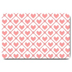 Heart Pattern Large Doormat  by stockimagefolio1