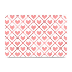 Heart Pattern Plate Mats by stockimagefolio1