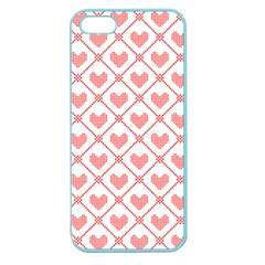 Heart Pattern Apple Seamless Iphone 5 Case (color) by stockimagefolio1