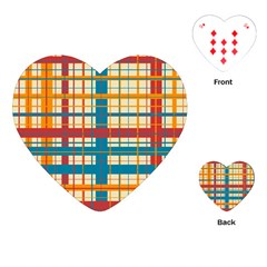 Plaid Pattern Playing Cards (heart)  by linceazul