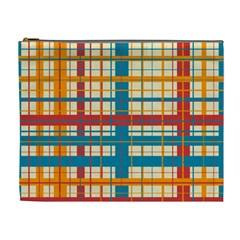 Plaid Pattern Cosmetic Bag (xl) by linceazul