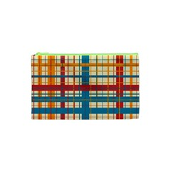 Plaid Pattern Cosmetic Bag (xs) by linceazul