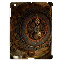 Steampunk, Awesoeme Clock, Rusty Metal Apple Ipad 3/4 Hardshell Case (compatible With Smart Cover) by FantasyWorld7