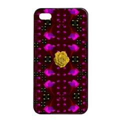 Roses In The Air For Happy Feelings Apple Iphone 4/4s Seamless Case (black) by pepitasart