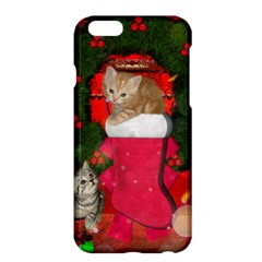 Christmas, Funny Kitten With Gifts Apple Iphone 6 Plus/6s Plus Hardshell Case by FantasyWorld7