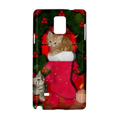 Christmas, Funny Kitten With Gifts Samsung Galaxy Note 4 Hardshell Case by FantasyWorld7