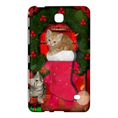 Christmas, Funny Kitten With Gifts Samsung Galaxy Tab 4 (7 ) Hardshell Case  by FantasyWorld7