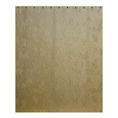 Gold Floral Royal Pattern  Shower Curtain 60  X 72  (medium)  by paulaoliveiradesign