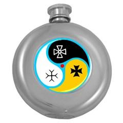 Assianism Symbol Round Hip Flask (5 Oz) by abbeyz71