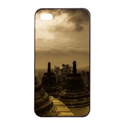 Borobudur Temple Indonesia Apple Iphone 4/4s Seamless Case (black) by Nexatart
