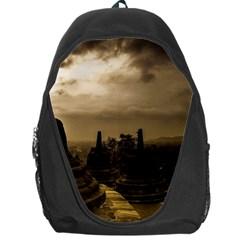 Borobudur Temple Indonesia Backpack Bag by Nexatart