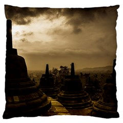 Borobudur Temple Indonesia Standard Flano Cushion Case (two Sides) by Nexatart