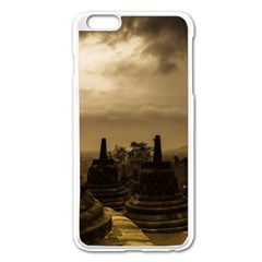 Borobudur Temple Indonesia Apple Iphone 6 Plus/6s Plus Enamel White Case by Nexatart