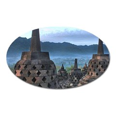 Borobudur Temple  Morning Serenade Oval Magnet by Nexatart