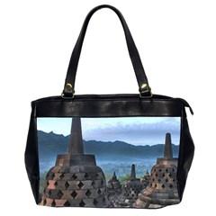 Borobudur Temple  Morning Serenade Office Handbags (2 Sides)  by Nexatart