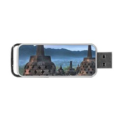 Borobudur Temple  Morning Serenade Portable Usb Flash (one Side) by Nexatart