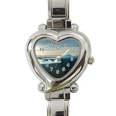 Bromo Caldera De Tenegger  Indonesia Heart Italian Charm Watch by Nexatart