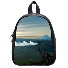 Bromo Caldera De Tenegger  Indonesia School Bag (small) by Nexatart