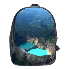 Kelimutu Crater Lakes  Indonesia School Bag (large) by Nexatart