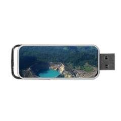 Kelimutu Crater Lakes  Indonesia Portable Usb Flash (two Sides) by Nexatart